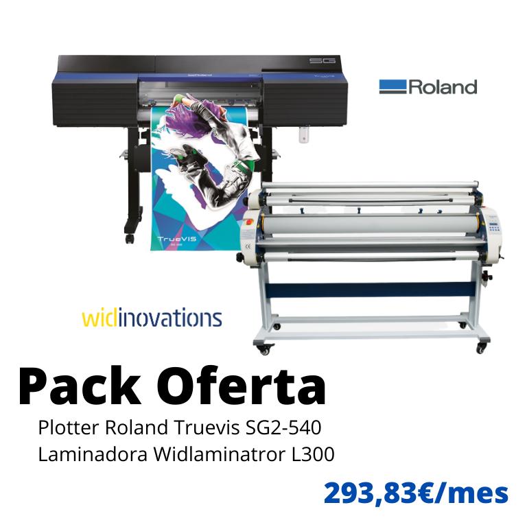 pack Roland truevis sg2 540 y laminadora widlaminator L300 sugraf