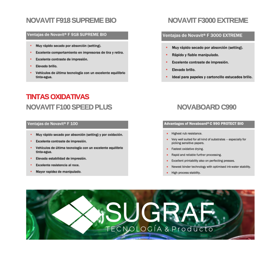 tintas oxidativas offset Sugraf Novavit